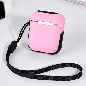 Защитный чехол Coteetci Armor розовый + черный для Apple AirPods