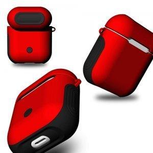 Защитный чехол Coteetci Armor красный + черный для Apple AirPods
