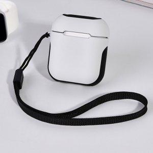 Защитный чехол Coteetci Armor белый + черный для Apple AirPods