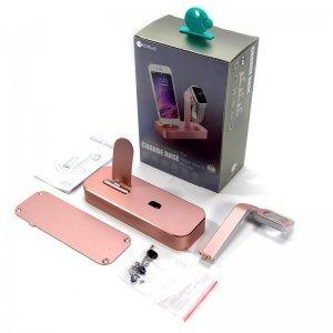 Док-станция для iPhone, Apple Watch - COTEetCI Base5 розовая