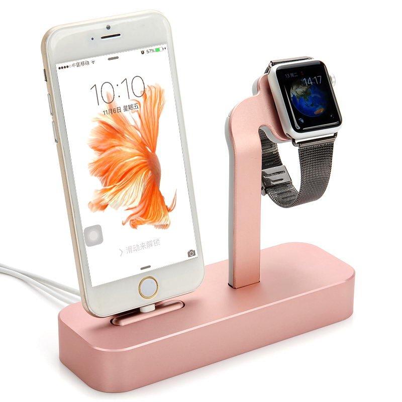 Док-станция COTEetCI Base5 розовое золото для iPhone, Apple Watch