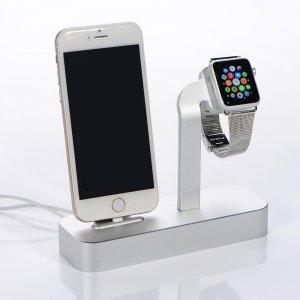 Док-станция для iPhone, Apple Watch - COTEetCI Base5 серебристая