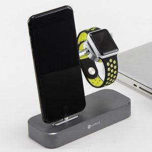 Док-станция Coteetci Base Hub B18 для iPhone, Apple Watch с 3 USB, Type-C серая
