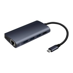 Хаб COTEetCI Hub HDMI + Reader + Network Card 8-in-1 (MB1086)