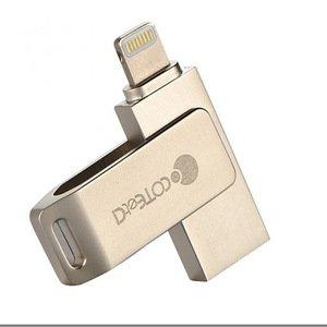 Флеш память COTEetCI iUSB для iPhone, iPad, Android емкостью 32Гб, золотистый