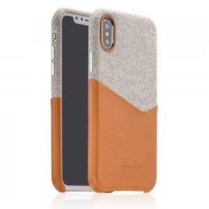 Ультратонкий чехол Coteetci Leather коричневый для iPhone X