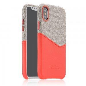 Ультратонкий чехол Coteetci Leather красный для iPhone X