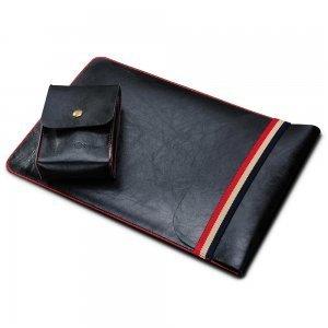 """Чехол (карман) Coteetci Leather Bag для ноутбуков и планшетов диагональю 11"""" черный"""