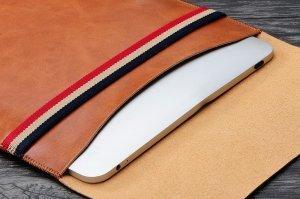 """Чехол (карман) Coteetci Leather Bag для ноутбуков диагональю 13"""" коричневый"""