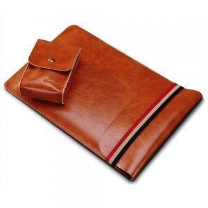 """Чехол (карман) Coteetci Leather Bag для ноутбуков и планшетов диагональю 11"""" коричневый"""
