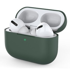 Силиконовый чехол COTEetCI Liquid зелёный для Airpods Pro