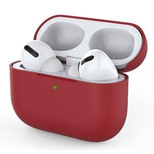 Силиконовый чехол COTEetCI Liquid красный для Airpods Pro