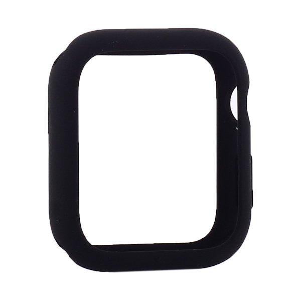 Силиконовый чехол Coteetci Liquid Case черный для Apple Watch 4/5/6/SE 40mm