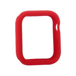 Силиконовый чехол Coteetci Liquid Case красный для Apple Watch 4/5/6/SE 44mm