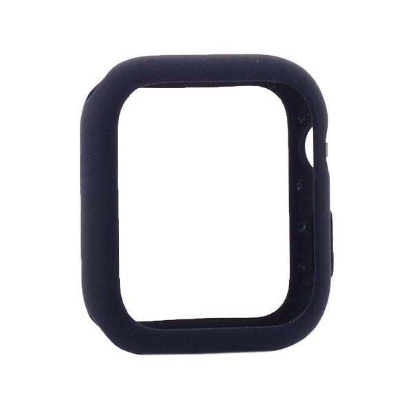 Силиконовый чехол Coteetci Liquid Case синий для Apple Watch 4/5/6/SE 40mm
