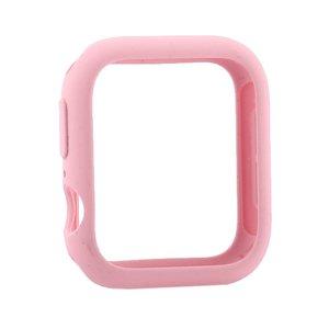 Силиконовый чехол Coteetci Liquid Case розовый для Apple Watch 4/5/6/SE 40mm