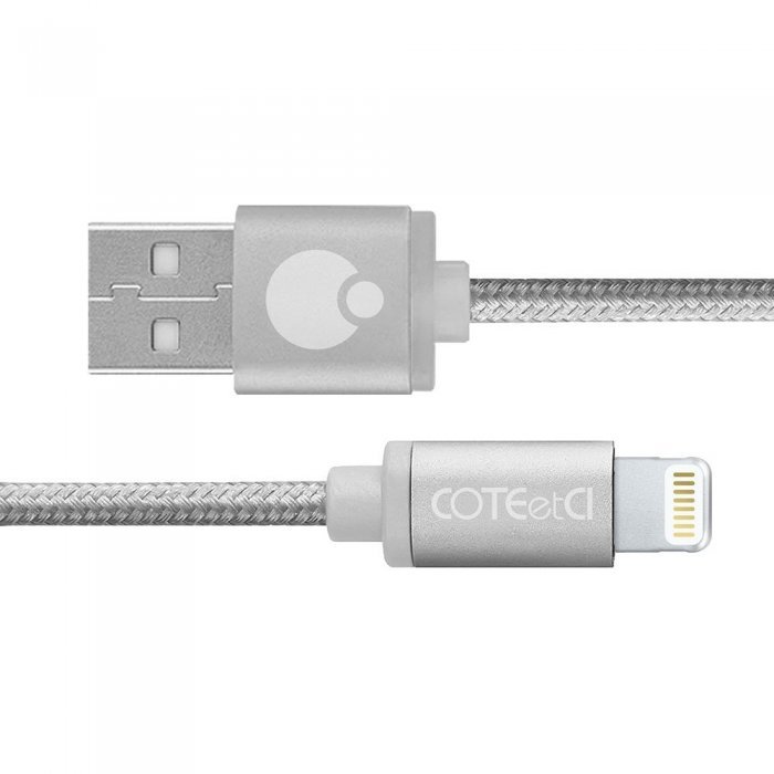 Кабель Lightning для iPhone/iPad/iPod - Coteetci M30i 3м, серебристый