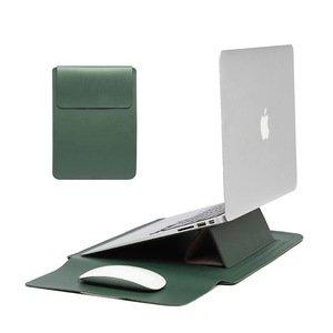 Чехол-карман COTEetCI Multifunction Leather Liner Bag зелёная для Macbook Pro/Air 13