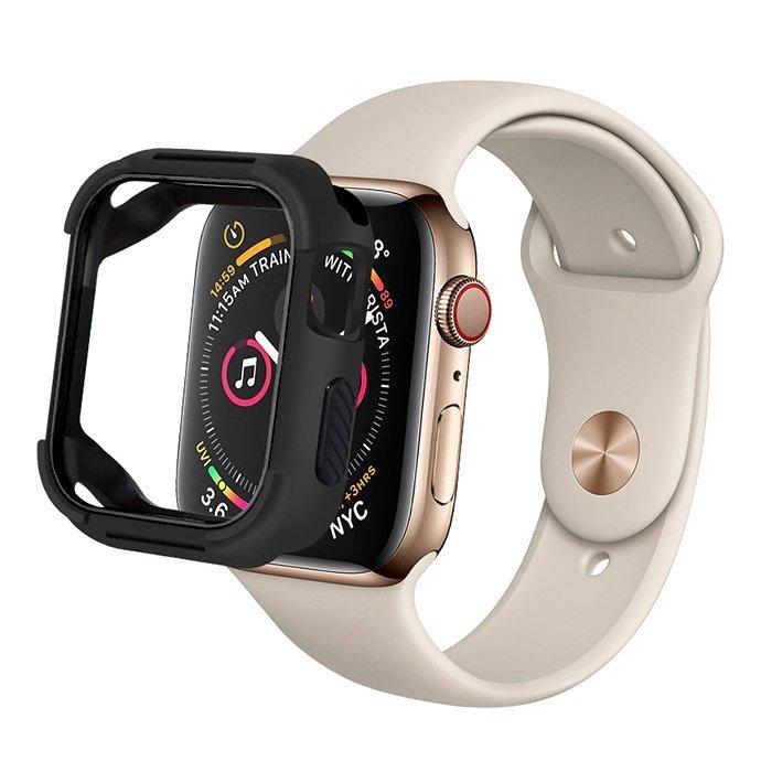 Полиуретановый чехол Coteetci PU+TPU Case чёрный для Apple Watch 4 40mm