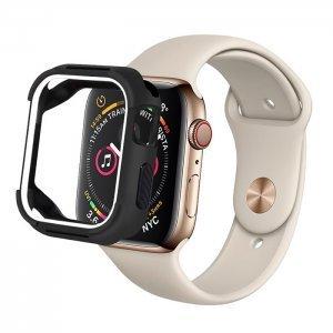 Полиуретановый чехол Coteetci PU+TPU Case белый + черный для Apple Watch 4 44mm