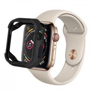 Полиуретановый чехол Coteetci PC+TPU Case чёрный для Apple Watch 4/5/6/SE 44mm