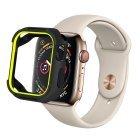 Полиуретановый чехол Coteetci PU+TPU Case салатовый + черный для Apple Watch 4/5 40mm