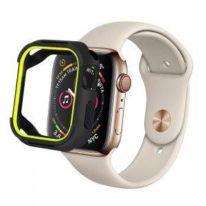 Полиуретановый чехол Coteetci PU+TPU Case салатовый + черный для Apple Watch 4 44mm