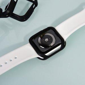 Полиуретановый чехол Coteetci PU+TPU Case белый + черный для Apple Watch 4/5 40mm