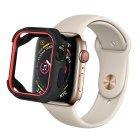 Полиуретановый чехол Coteetci PU+TPU Case красный + черный для Apple Watch 4/5 40mm