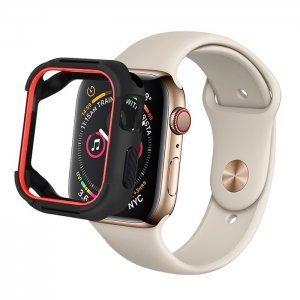 Полиуретановый чехол Coteetci PU+TPU Case красный + черный для Apple Watch 4 40mm