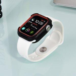 Полиуретановый чехол Coteetci PC+TPU Case красный + черный для Apple Watch 4/5/6/SE 40mm
