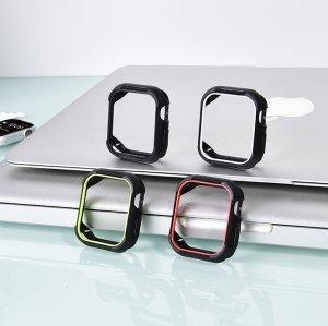 Полиуретановый чехол Coteetci PC+TPU Case чёрный для Apple Watch 4/5/6/SE 40mm