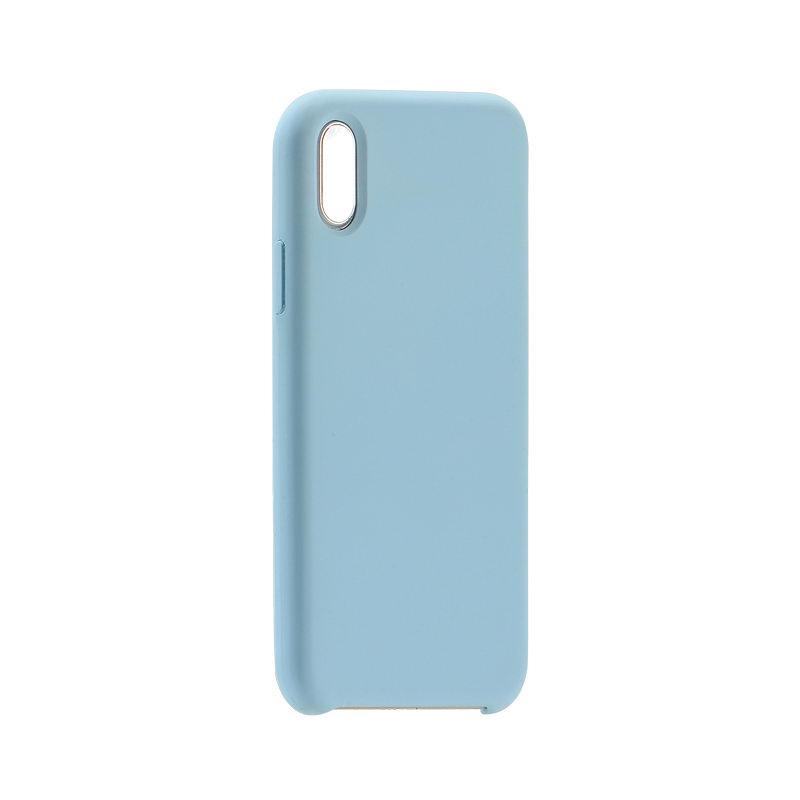 Силиконовый чехол Coteetci голубой для iPhone X/XS