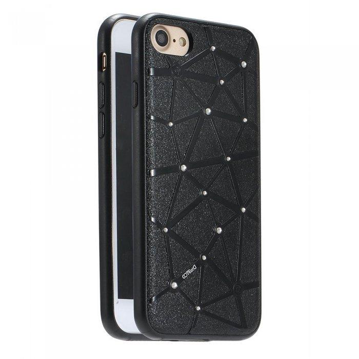 Чехол со стразами Coteetci Star черный для iPhone 8/7/SE 2020