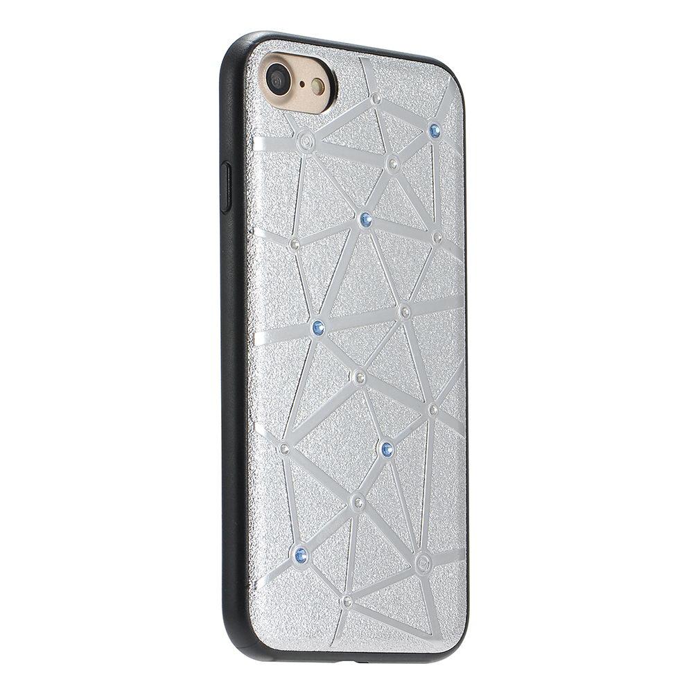 Чехол со стразами Coteetci Star серебристый для iPhone 8/7