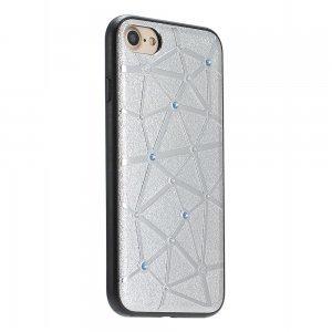 Чехол со стразами Coteetci Star серебристый для iPhone 8/7/SE 2020