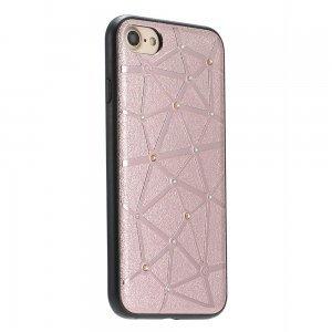 Чехол со стразами Coteetci Star розовое золото для iPhone 8/7/SE 2020