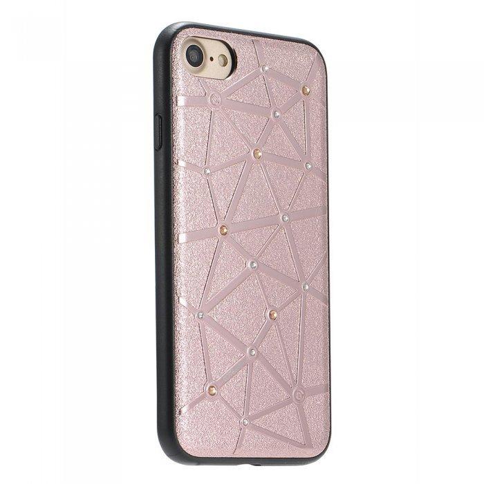 Чехол со стразами Coteetci Star розовое золото для iPhone 8/7