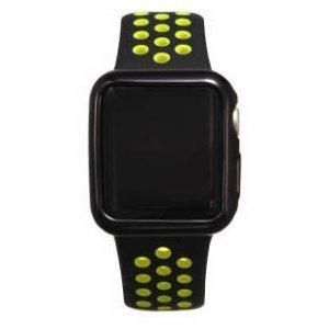 Силиконовый чехол Coteetci чёрный для Apple Watch 2 38мм