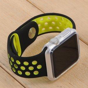 Силиконовый чехол Coteetci прозрачный для Apple Watch 3/2 38мм