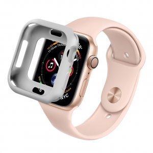 Силиконовый чехол Coteetci TPU Case серый для Apple Watch 4 44mm