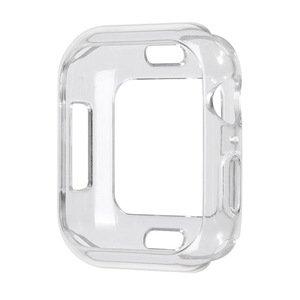 Силиконовый чехол Coteetci TPU Case прозрачный для Apple Watch 4/5/6/SE 44mm