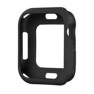Силиконовый чехол Coteetci TPU Case чёрный для Apple Watch 4/5/6/SE 44mm