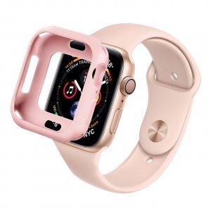 Силиконовый чехол Coteetci TPU Case розовый для Apple Watch 4 40mm