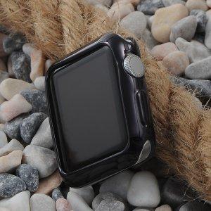 Силиконовый чехол Coteetci чёрный для Apple Watch 3/2 42мм