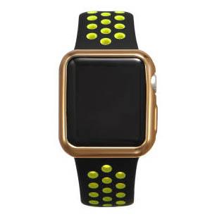 Силиконовый чехол Coteetci золотой для Apple Watch 3/2 42мм