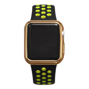 Силиконовый чехол Coteetci золотой для Apple Watch 3/2 38мм