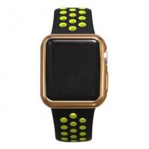 Силиконовый чехол Coteetci золотой для Apple Watch 2 38мм