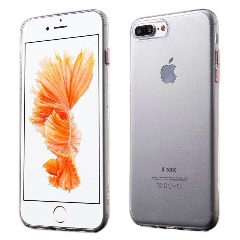Ультратонкий чехол Coteetci розовое золото + прозрачный для iPhone 8/7
