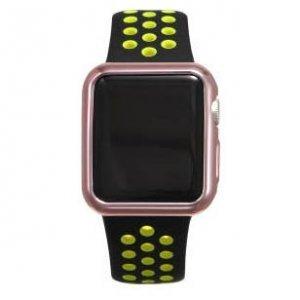 Силиконовый чехол Coteetci розовый для Apple Watch 3/2 38мм